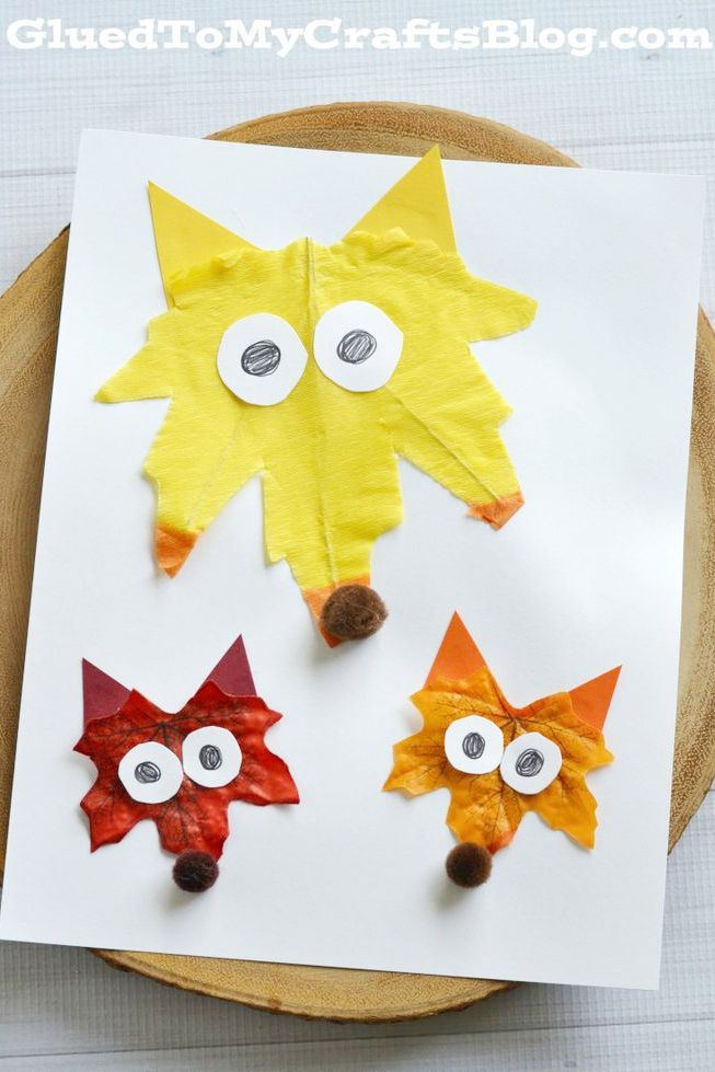 thanksgiving activities kids leaf foxes