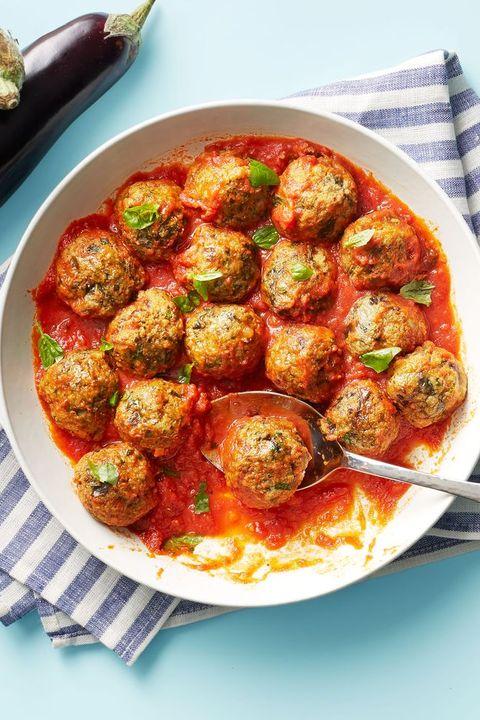 thanksgiving appetizers eggplant parmesan meatballs