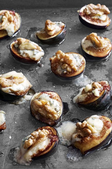 thanksgiving appetizers figs with walnuts and gorgonzola