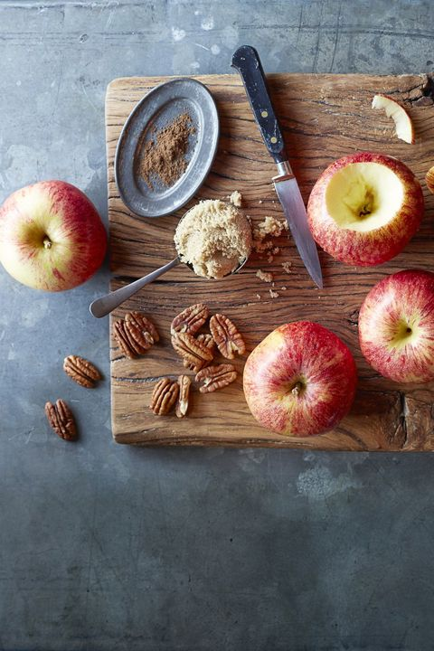 "pecan stuffed ""baked"" apples"