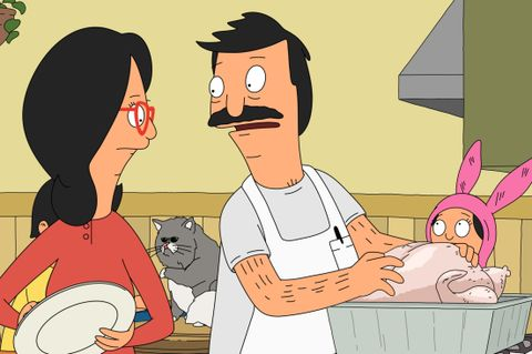"bob's burgers determined to have a perfect thanksgiving, bob meticulously prepares the family turkey  in the all new ""turkey in a can"" episode of bob's burgers airing sunday, nov 24 830 900 pm etpt on fox   bob's burgers ™ and © 2013 tcffc all rights reserved"