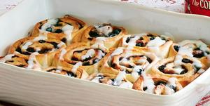 thanksgiving brunch blueberry rolls