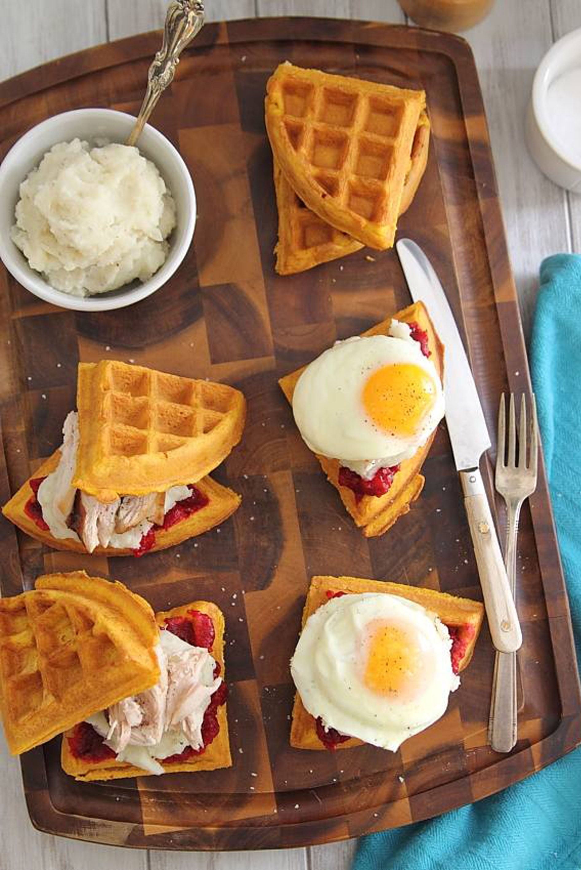 thanksgiving brunch waffles