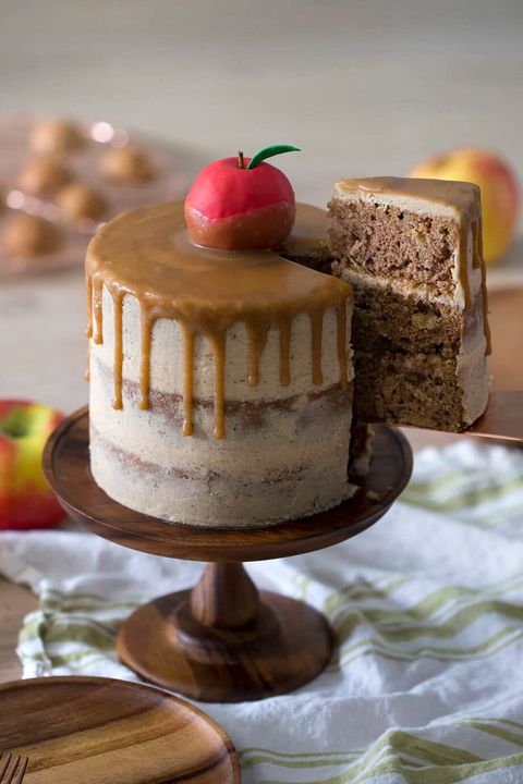 thanksgiving cake caramel apple