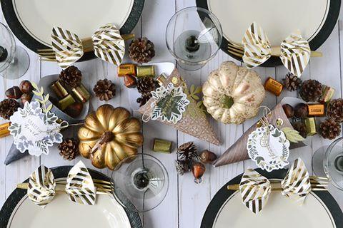thanksgiving centerpieces candy cornucopias