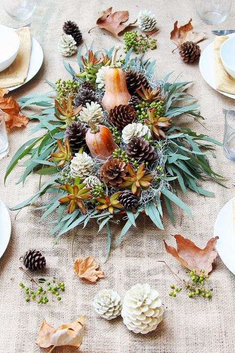 Thanksgiving Centerpieces - Gourd Centerpiece