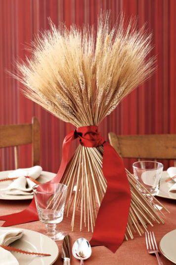 thanksgiving centerpieces harvest wheat