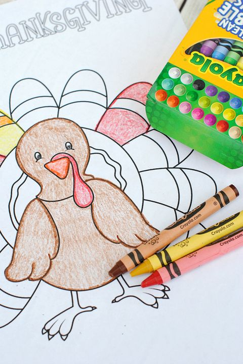 Free printable thanksgiving coloring pages for children having a ... | 720x480