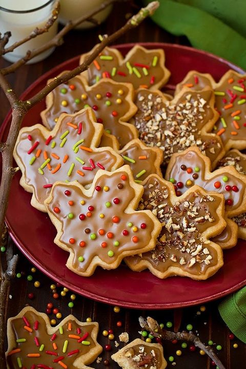 thanksgiving cookies maple shortbread