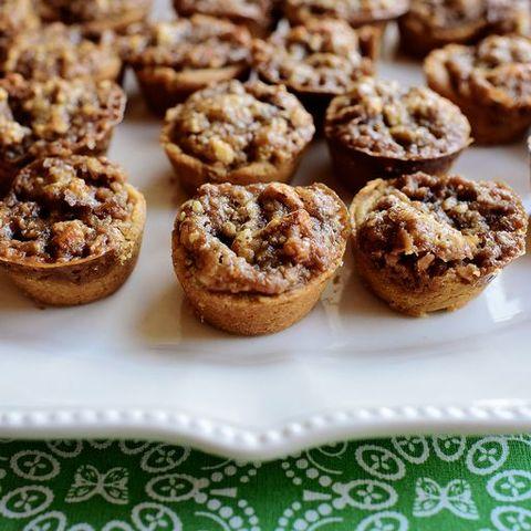 pecan pie cookie bites on white platter