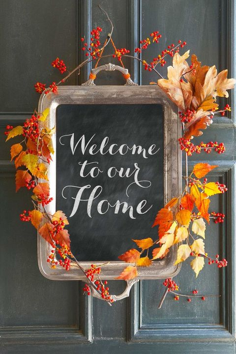 Thanksgiving Crafts for Adults - Welcome Sign