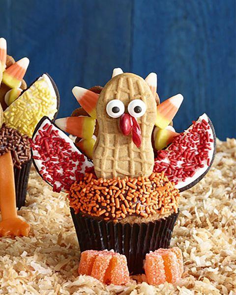 thanksgiving cupcakses turkey cupcakes