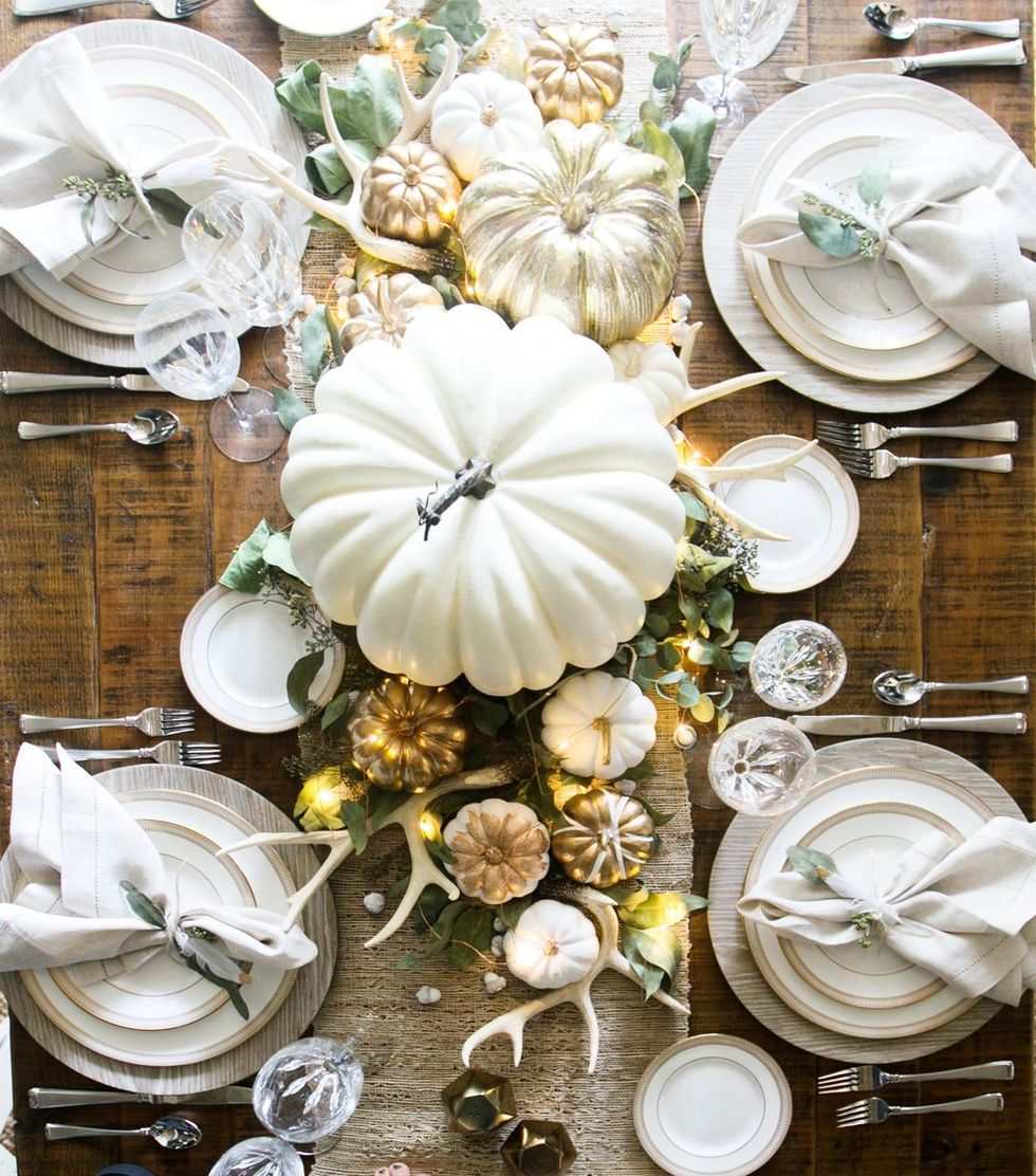 White Thanksgiving Decorations