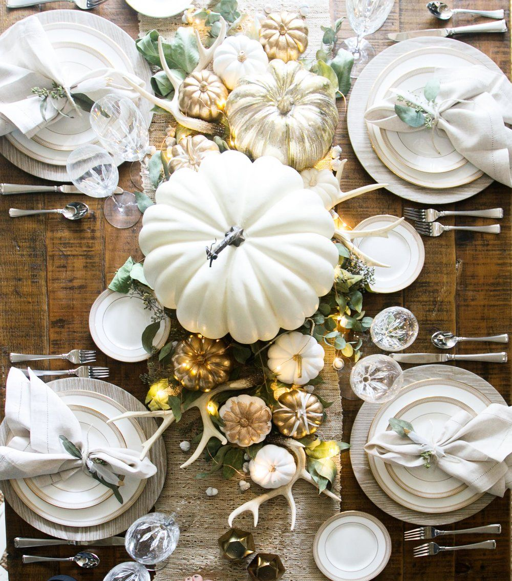 thanksgiving decorations & 25 Best Thanksgiving Decorations - Stylish Thanksgiving Decor Ideas