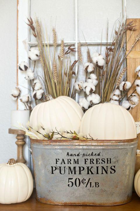 bucket thanksgiving decorations