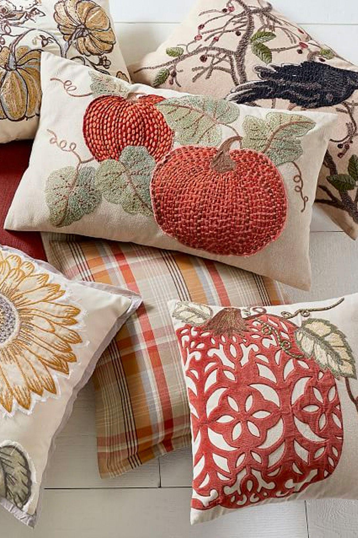 Thanksgiving decorations fall pillows