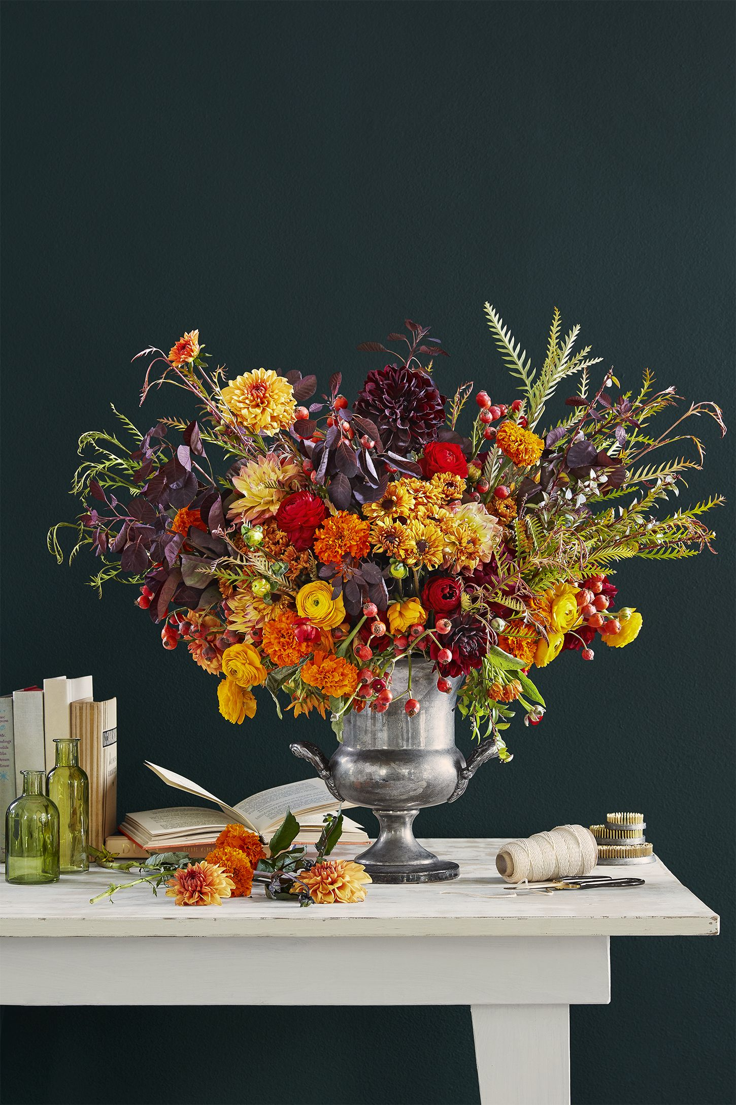 thanksgiving decorations flower arrangement