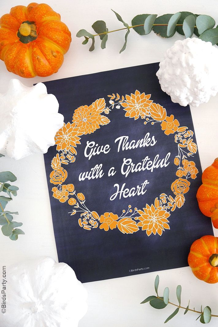 thanksgiving decorations free printable