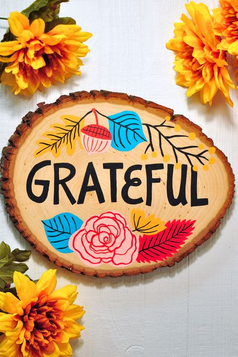 thanksgiving decorations grateful sign
