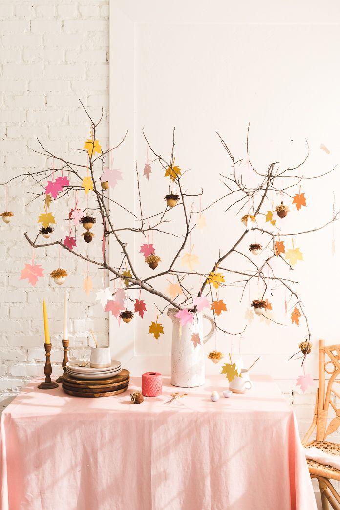 Thanksgiving Decorations Gratitude Tree Acorn Favors