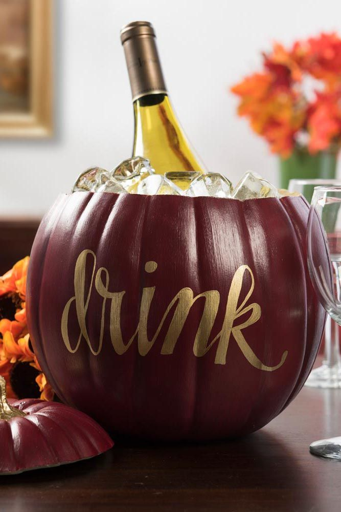 thanksgiving decorations pumpkin ice bucket