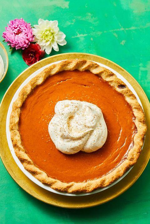 thanksgiving desserts gingery pumpkin pie