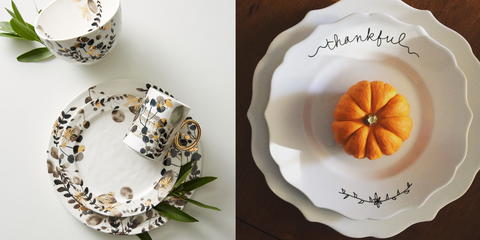 10 Best Thanksgiving Dinnerware Sets - Fun and Chic Thanksgiving Plates