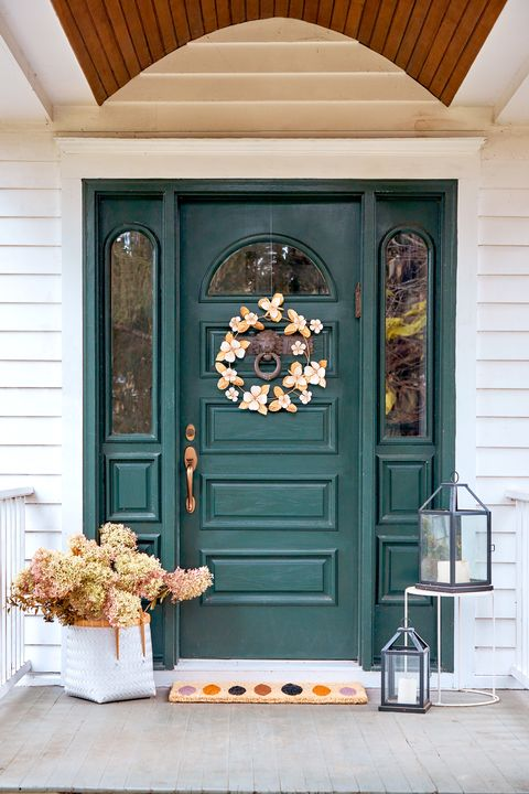 front door decor for fall