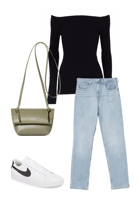 White, Clothing, Jeans, Footwear, Denim, Trousers, Shoe, Sleeve, Style,