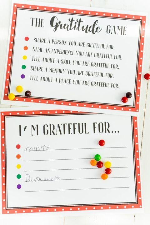 thanksgiving games gratitude skittles