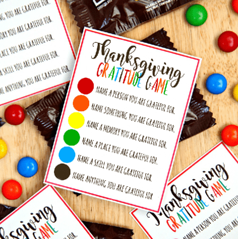 fun things to do on thanksgiving - gratitude printable
