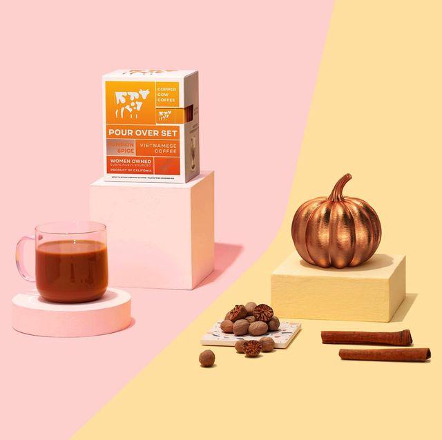 copper cow coffee pour over set urbanstems saffron bouquet