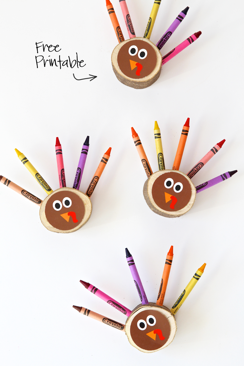 photograph regarding Printable Thanksgiving Craft named 36 Basic Thanksgiving Crafts for Little ones - Thanksgiving Do it yourself