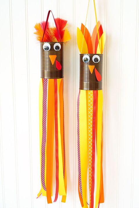 Best Thanksgiving Crafts for Kids - Turkey Windsocks