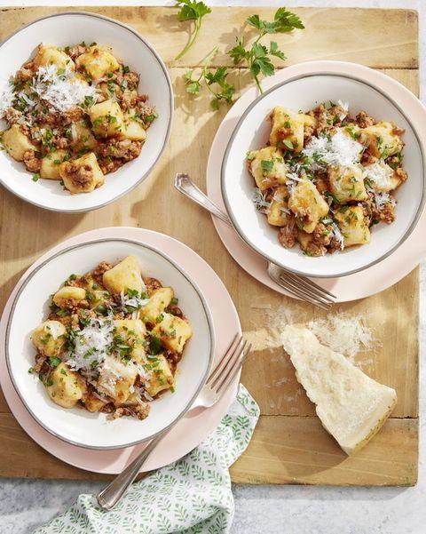 potato gnocchi with pork ragù
