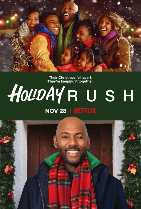 a movie poster for holiday rush