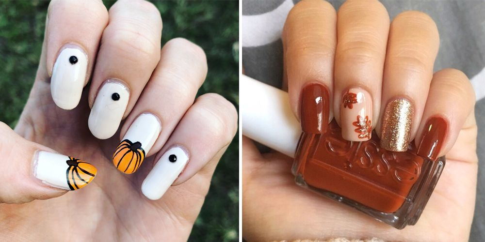 - 17 Cute Thanksgiving Nail Designs 2018 - Best Nail Art For Turkey Day