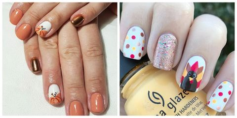 15 Thanksgiving Nails Nail Designs And Colors For Thanksgiving