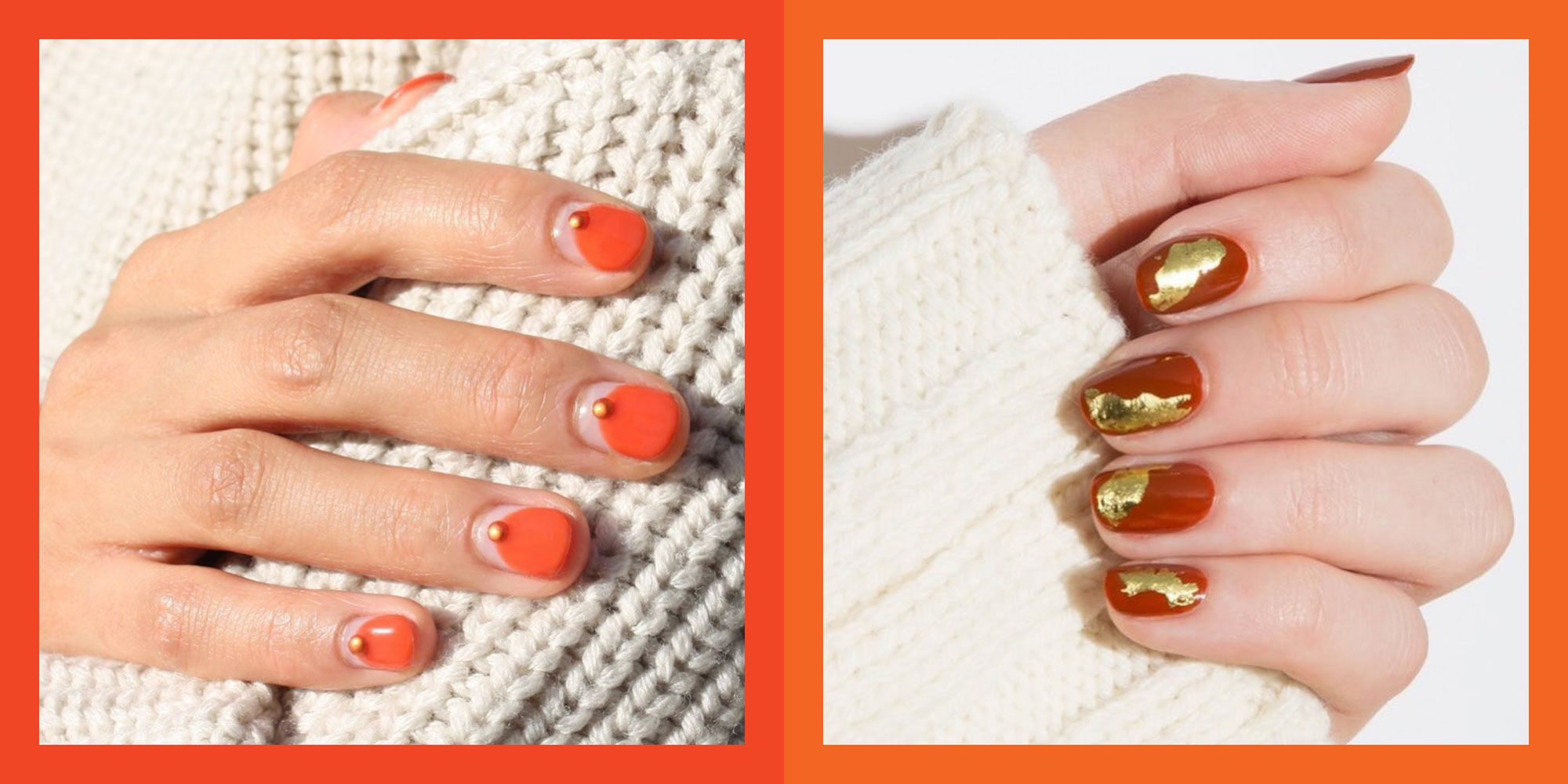 20 Cute Thanksgiving Nails and Ideas to Copy for Fall 2019