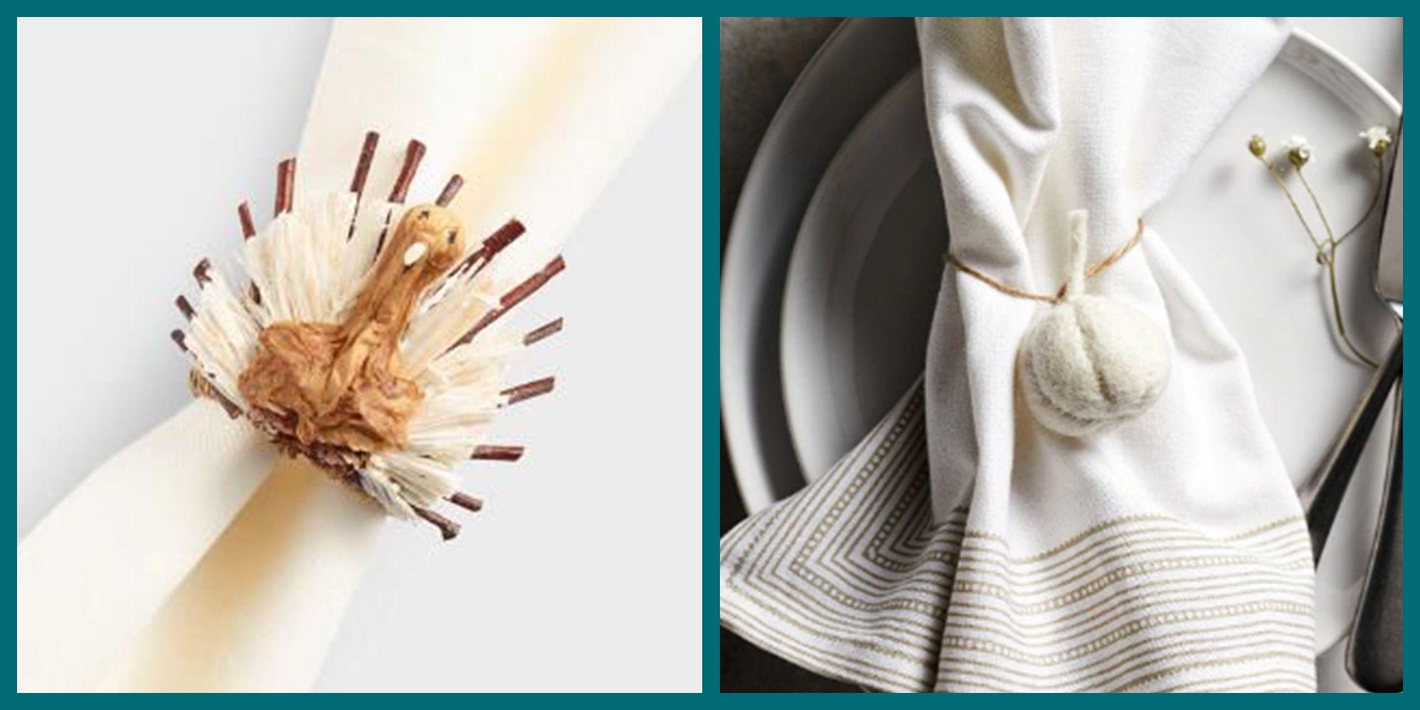 21 Perfect Thanksgiving Napkin Rings Elegant Napkin Rings 2019
