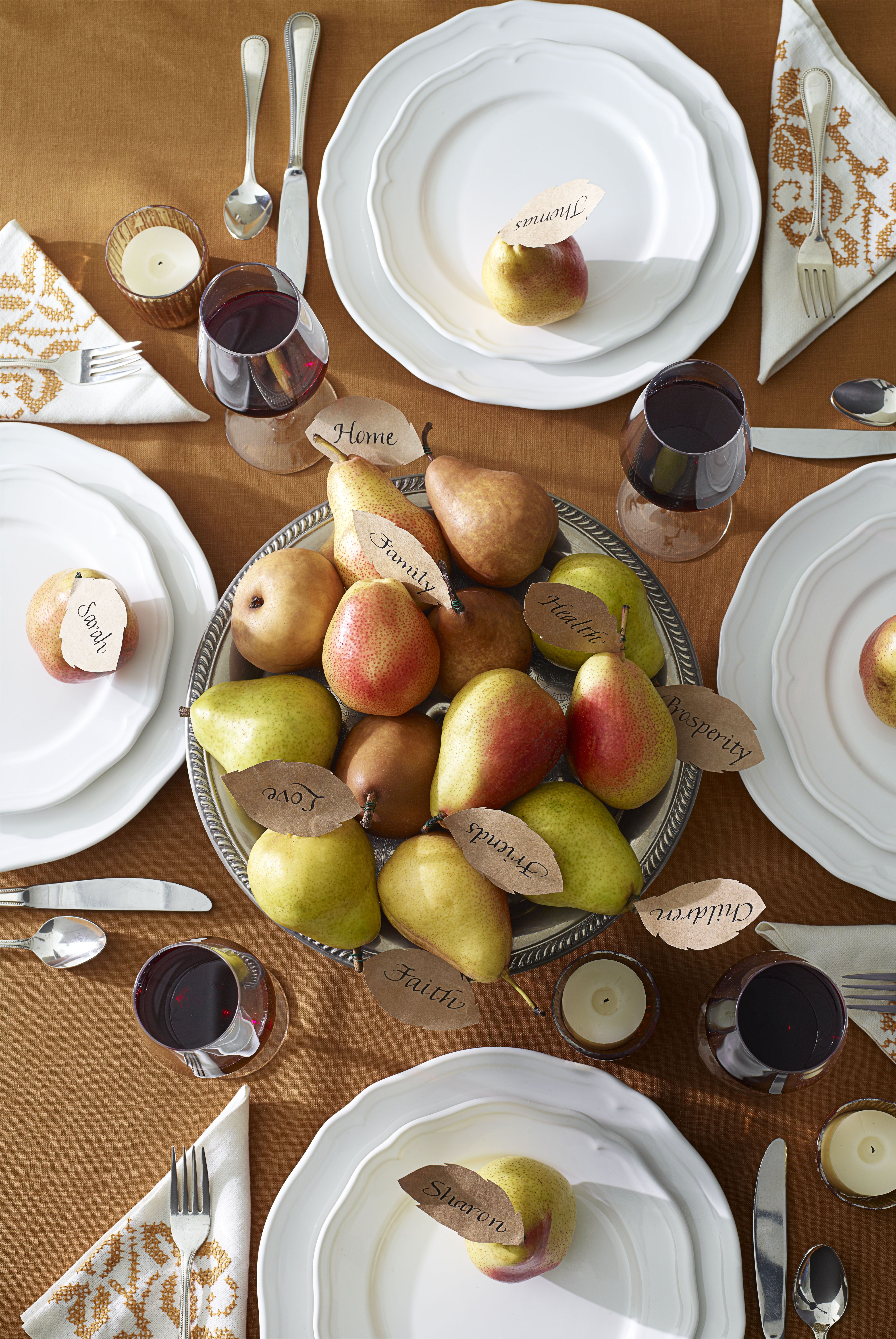 thanksgiving pear centerpiece