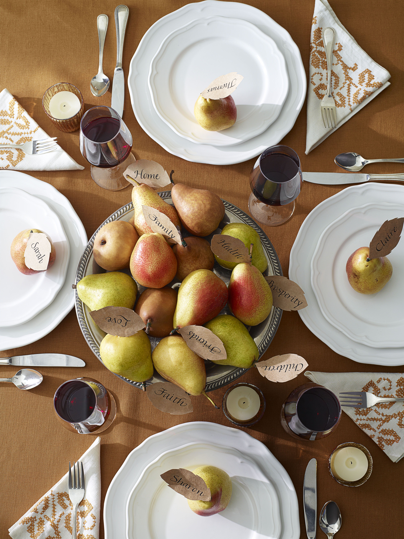 Thanksgiving Pear Centerpiece