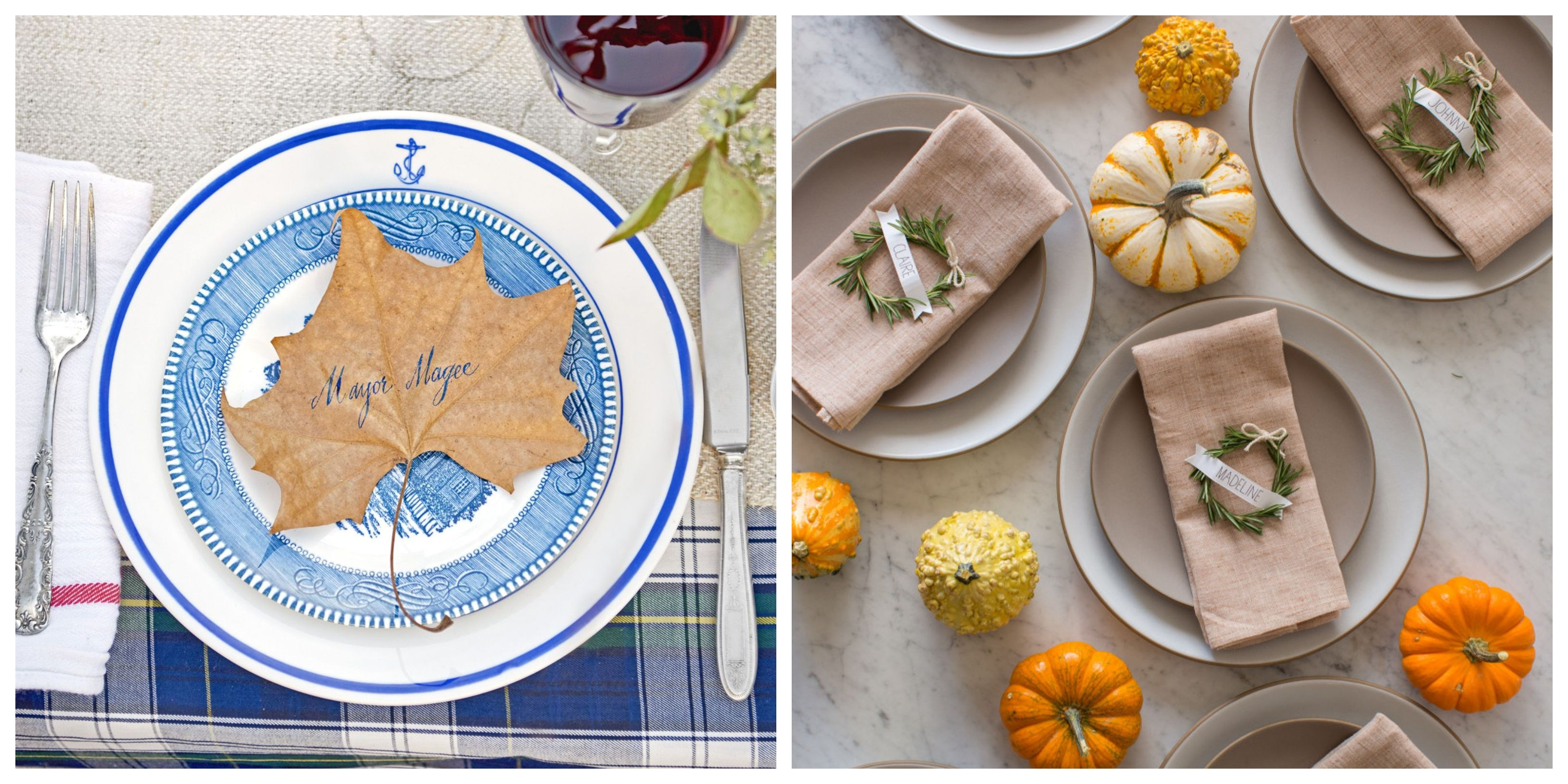 20 Thanksgiving Place Cards DIY