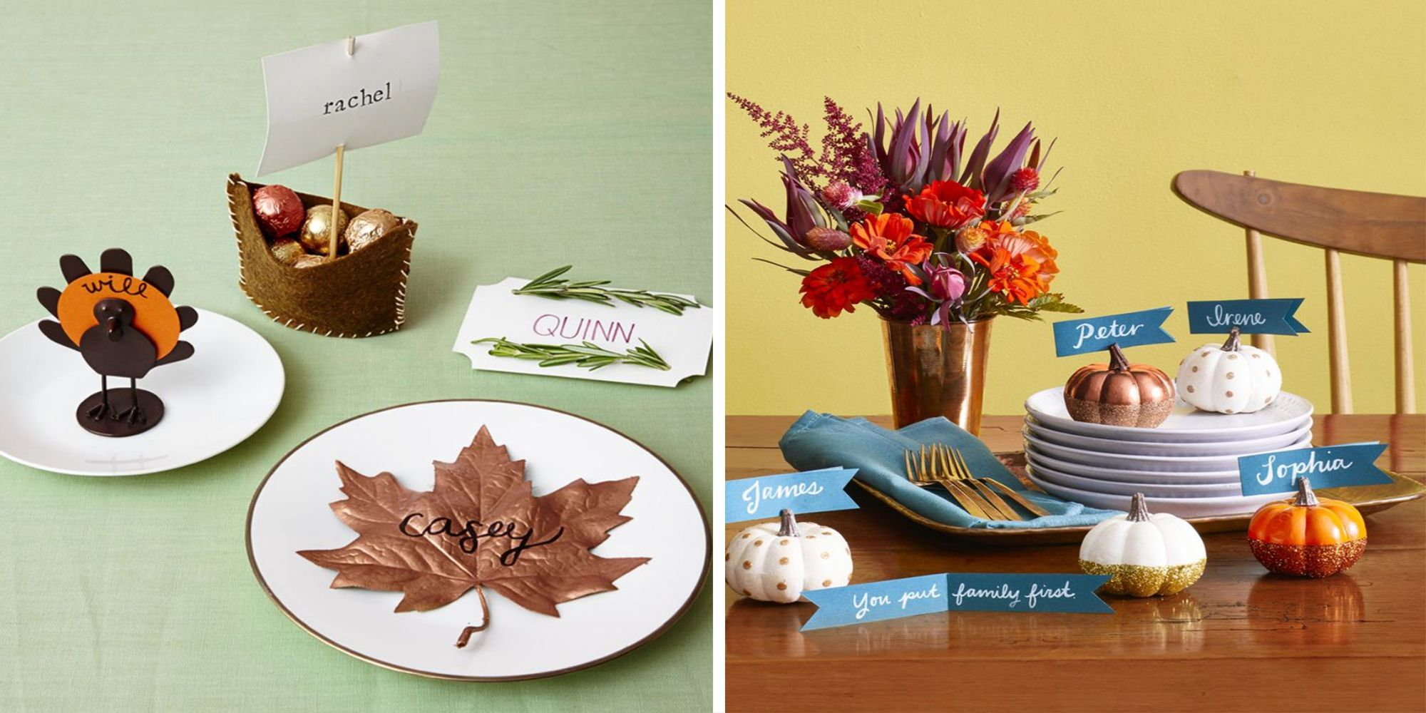 15 Diy Or Buy Thanksgiving Place Cards Craft Ideas For Fall Table Name Cards
