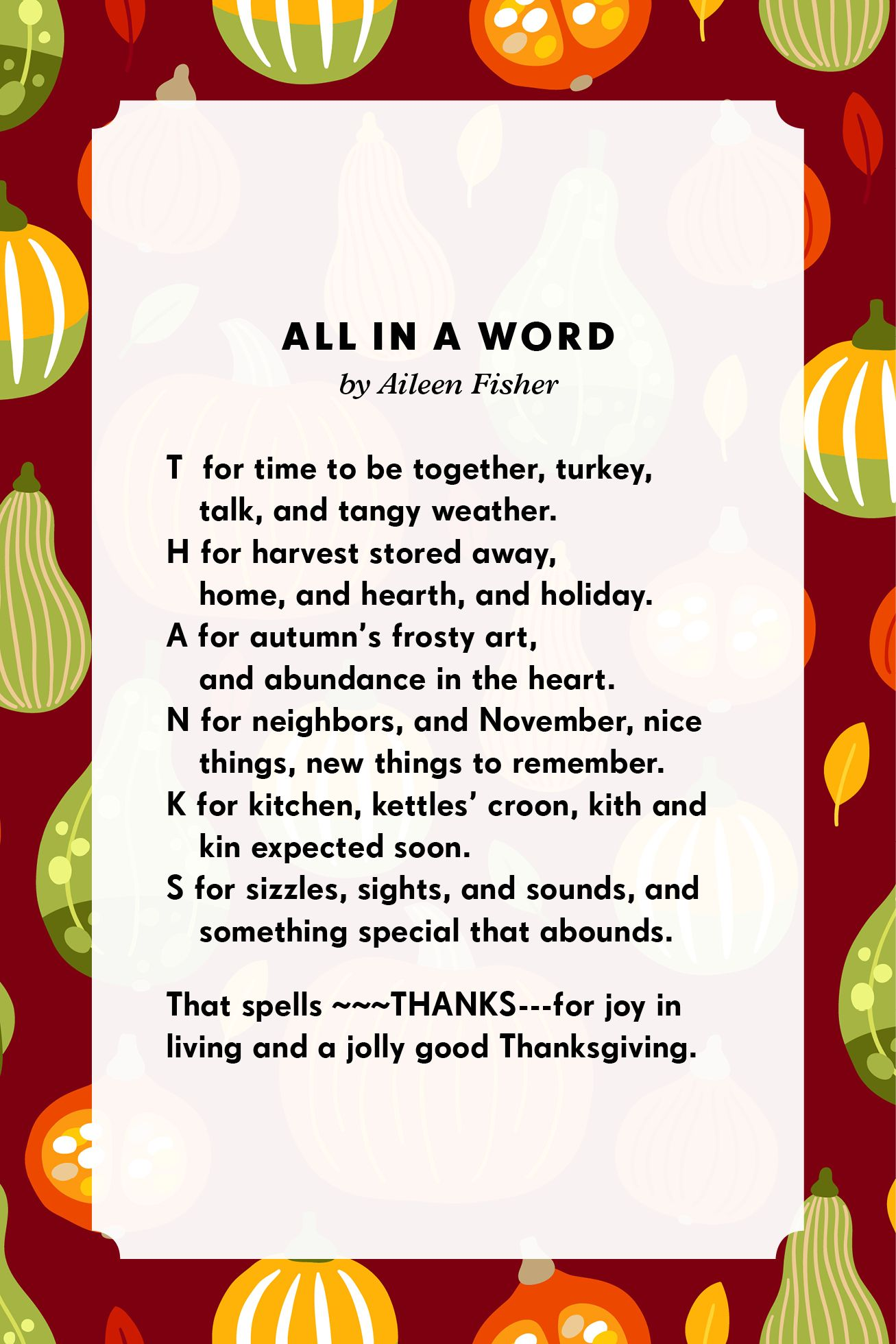 20 Best Thanksgiving Poems Holiday Sayings To Share With Family