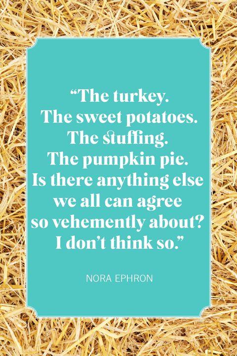 thanksgiving quotes nora ephron