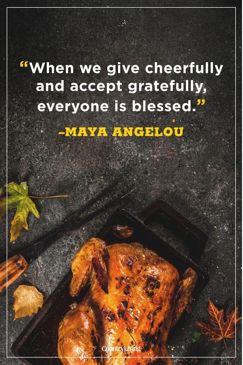 thanksgiving quotes maya angelou