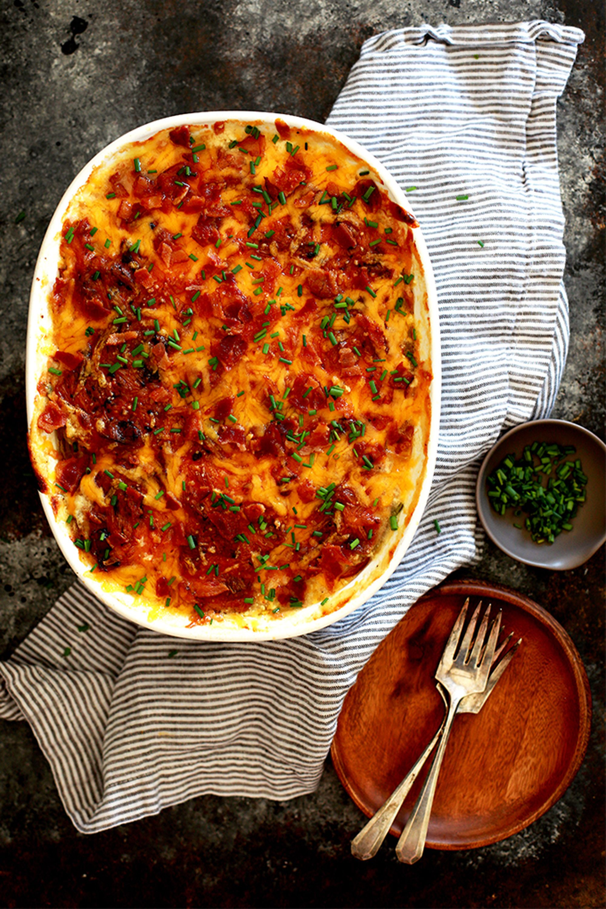 thanksgiving scalloped potatoes loaded