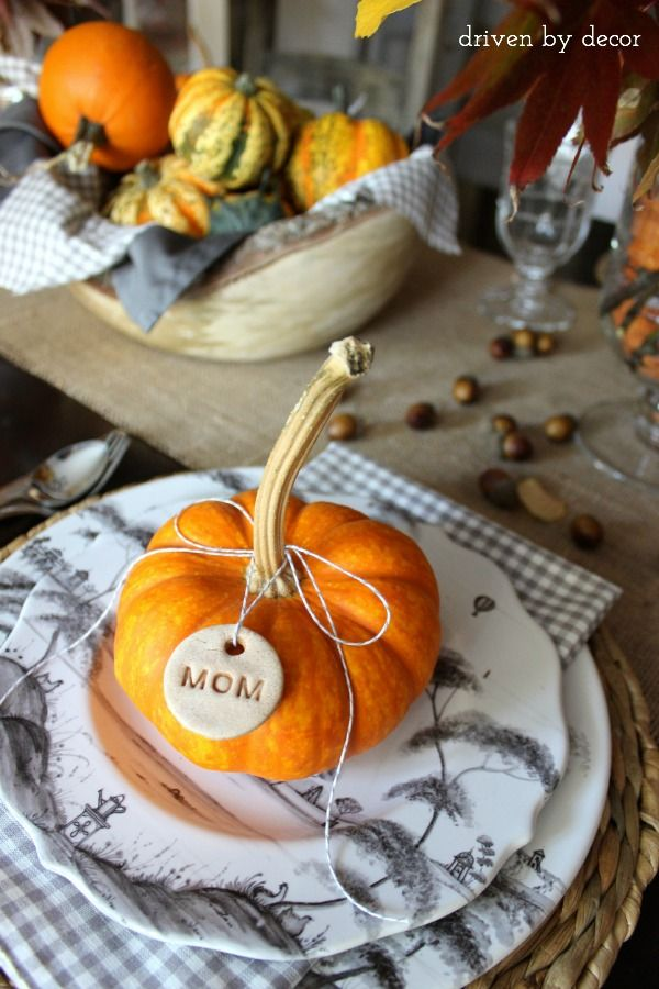Thanksgiving Table Pumpkin Place Setting