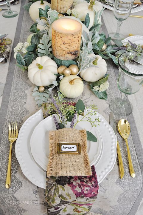 45 thanksgiving table settings thanksgiving tablescapes decoration ideas. Black Bedroom Furniture Sets. Home Design Ideas